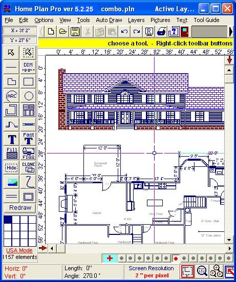 Home plan pro home drawing software free download software Computer house plans software