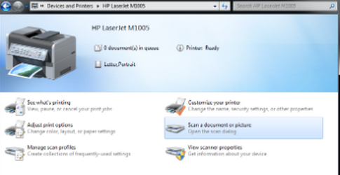 HP LaserJet M1005 Scan Feature