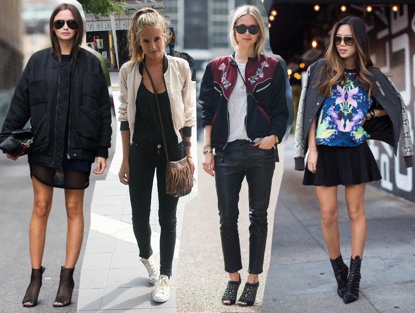bomber jacket trend 2014 outfits fashion blog bloggers wearing bomber jacket street style streetstyle