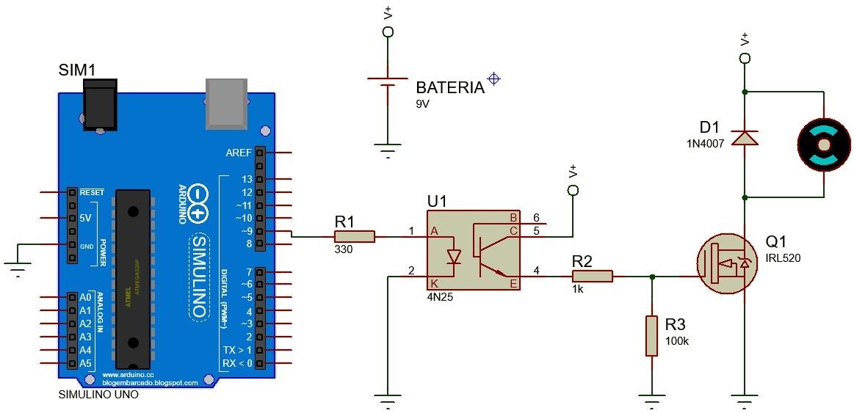 Circuito Optoacoplador : Sistemas de control digital