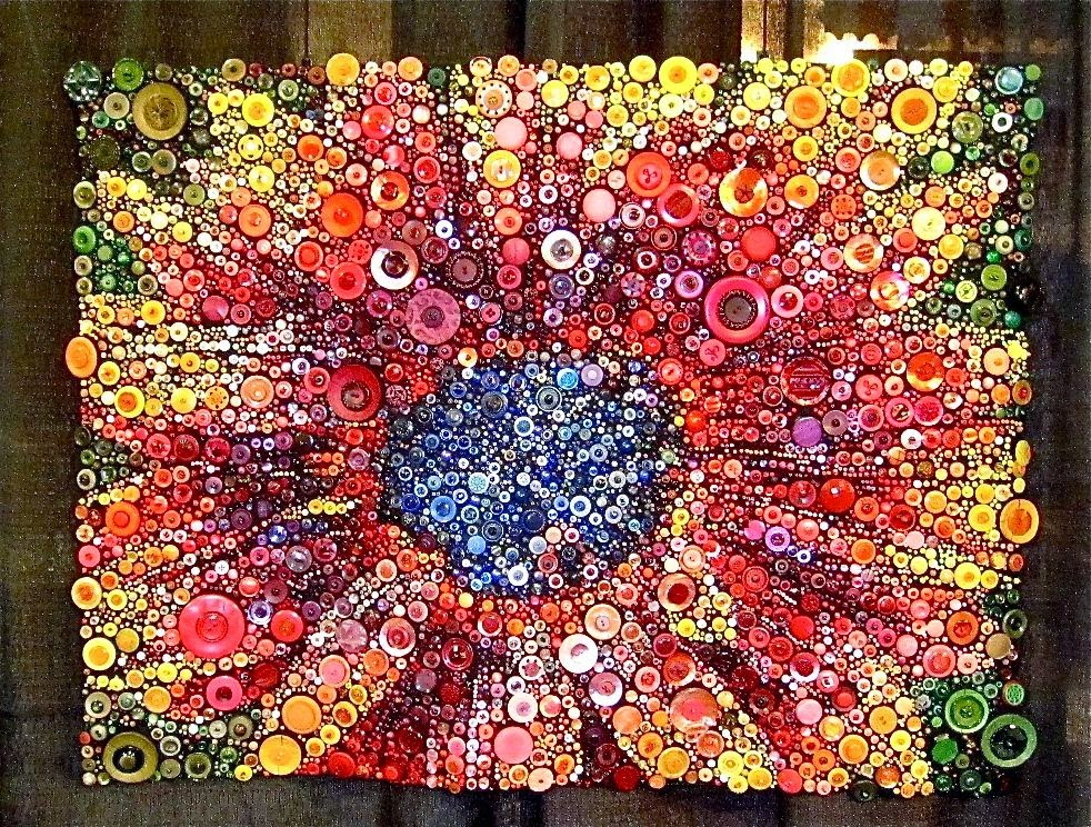 Button Floozies Button Quilt At The Houston Quilt Show