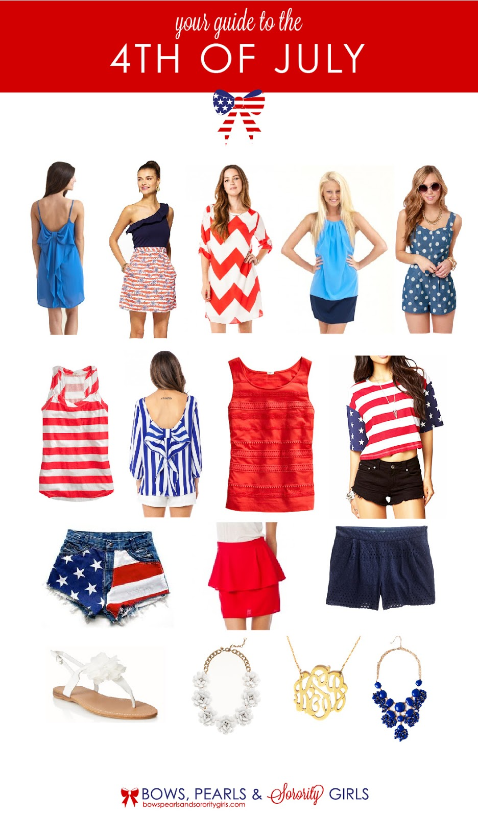 bows pearls sorority girls merica style guide