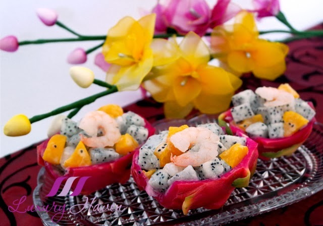 chinese new year colourful appetizers idea