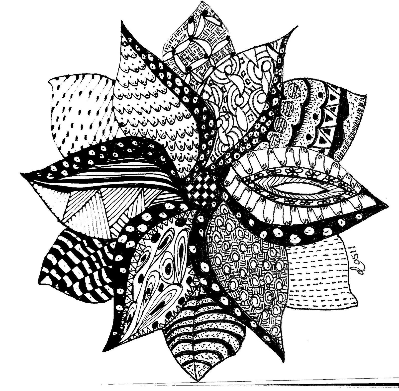 Easy Zentangle Flowers