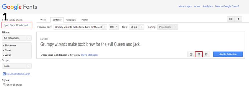 Como usar fontes do Google Web Fonts
