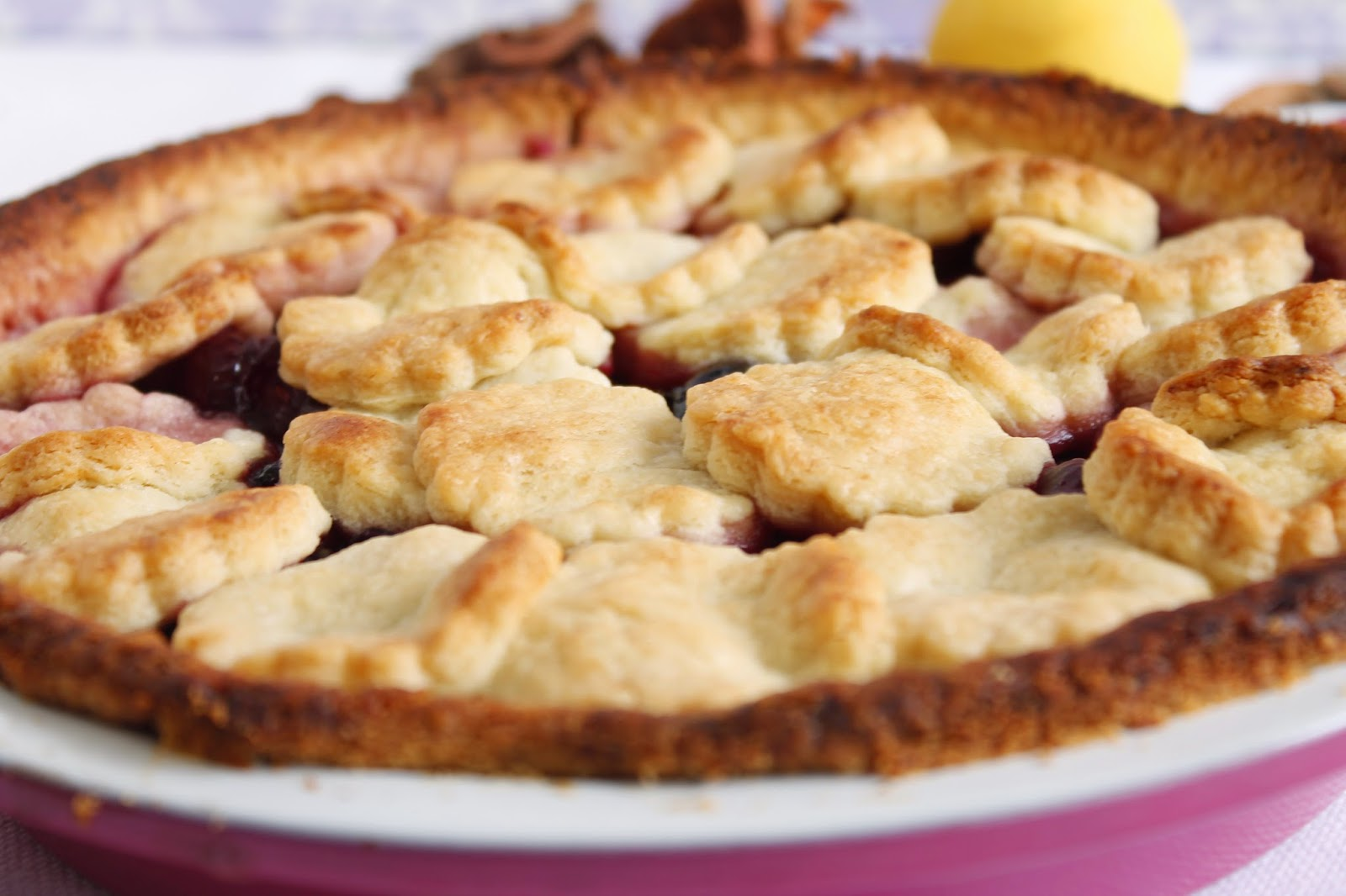 Receta Cherry pie o pie de cerezas
