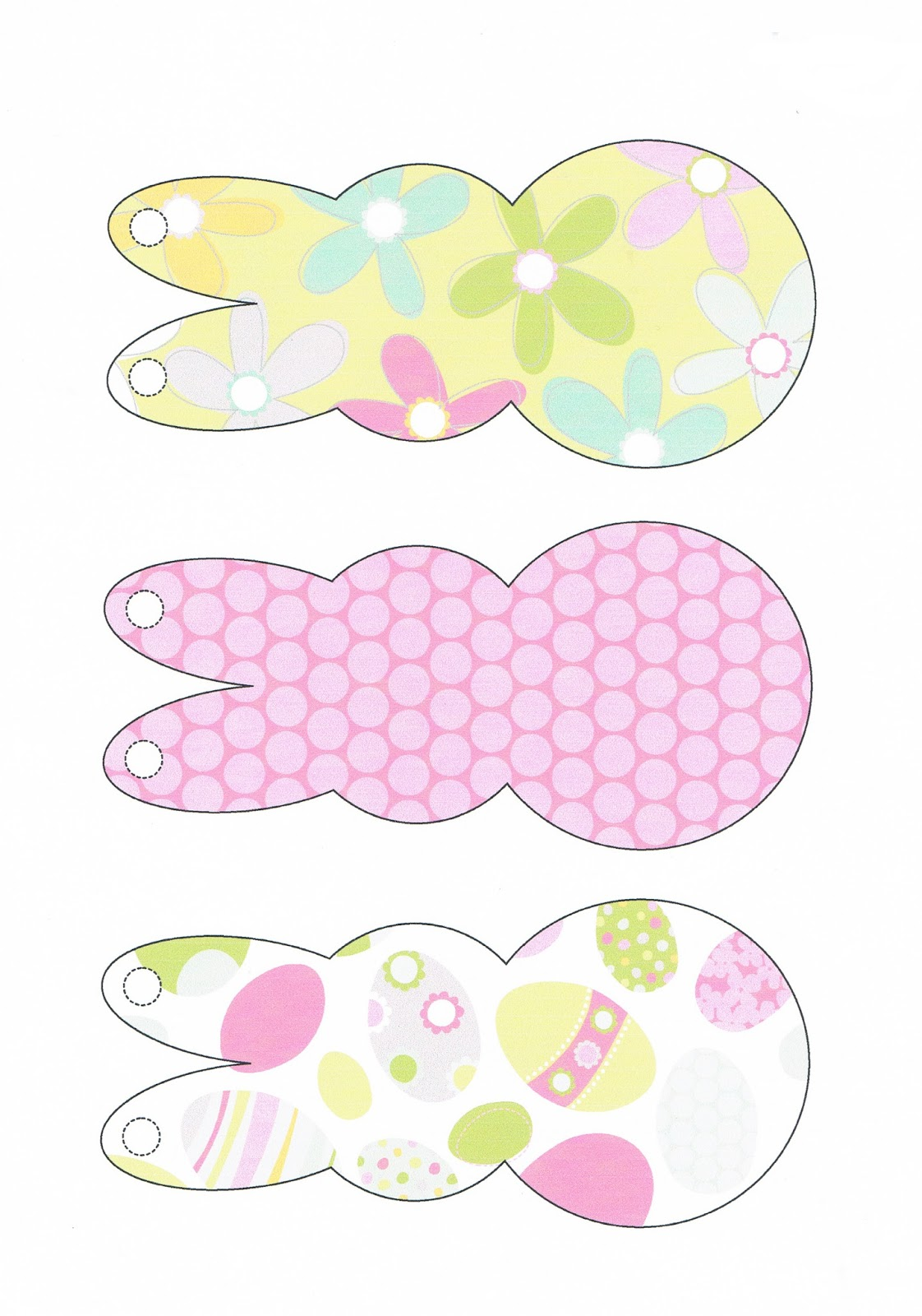 Current image throughout printable easter decorations