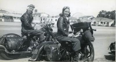 Gussie Addie Van Buren women motorcylists