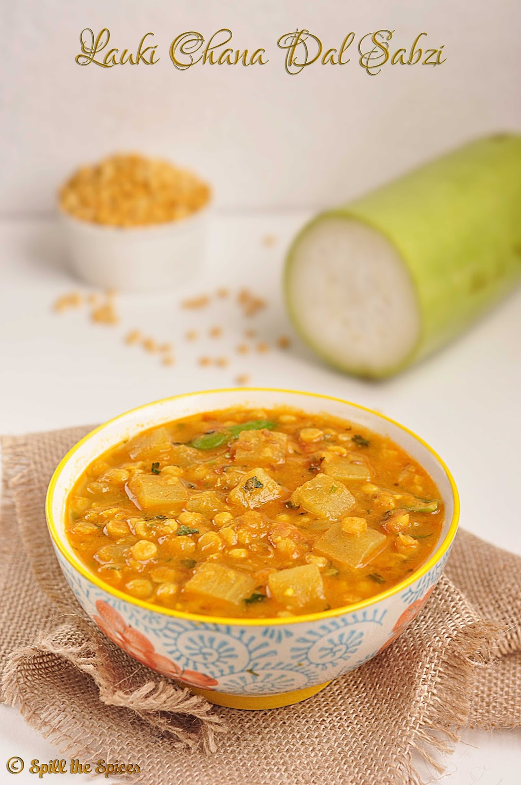 spicy bottle gourd curry recipe with daal