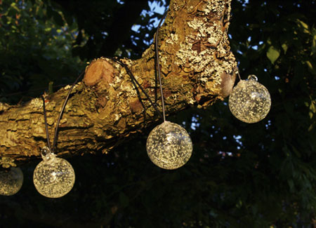 How To String Lights On An Outside Tree : Lynn Morris Interiors : Summer is coming to a close. Extend your time outdoors!