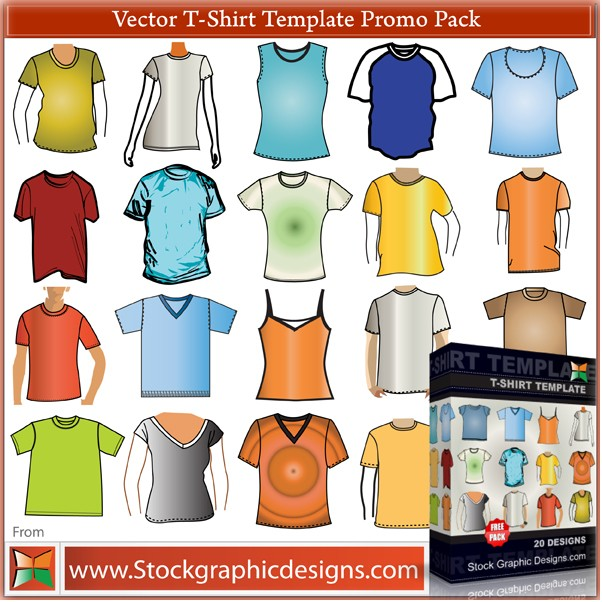 Pack De Vectores De T Shirts Camisetas O Blusas