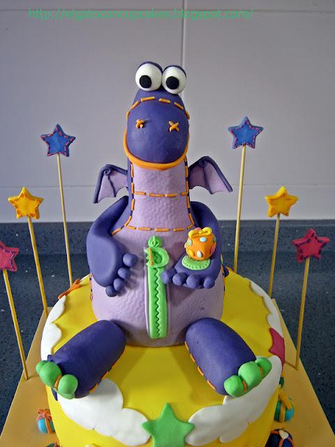 tarta Dibo el dragón de los deseos