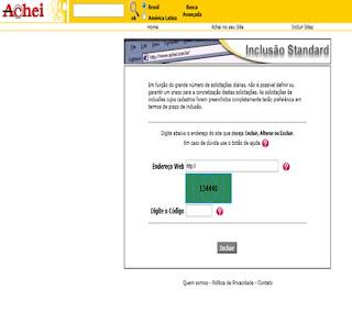 dicas para cadastrar sites no buscador Achei