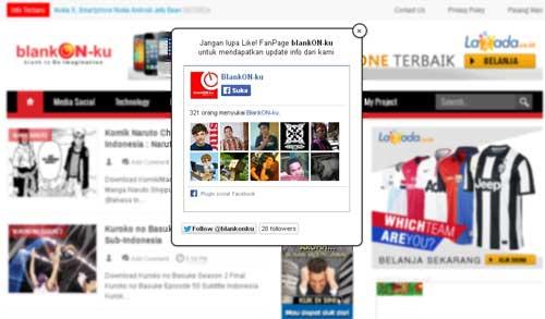 Tampilan Widget FanPage Facebook Melayang di WebBlog