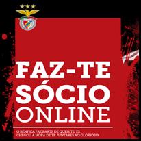 Torna-te socio do Benfica Online