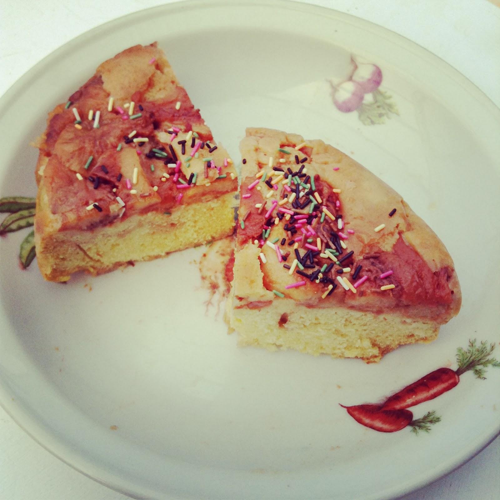 gâteau Moelleux aux pêches
