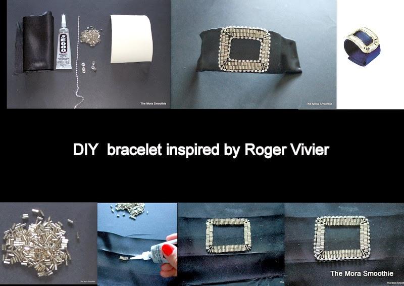 Roger Vivier, bracelet, craft, tutorial, tutorial bracelet, DIY Roger Vivier, DIY fashion