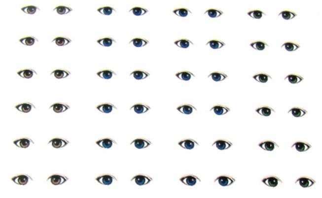 Adesivo Boca De Palhaco ~ Viviana Biscuit olhos adesivos para os noivinhos