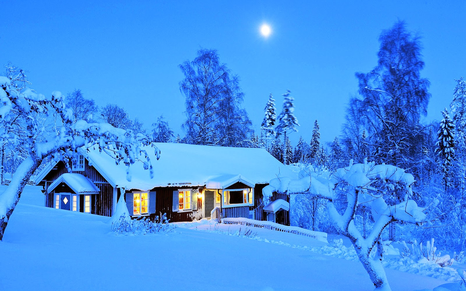 Winterlandschaft desktopmotive