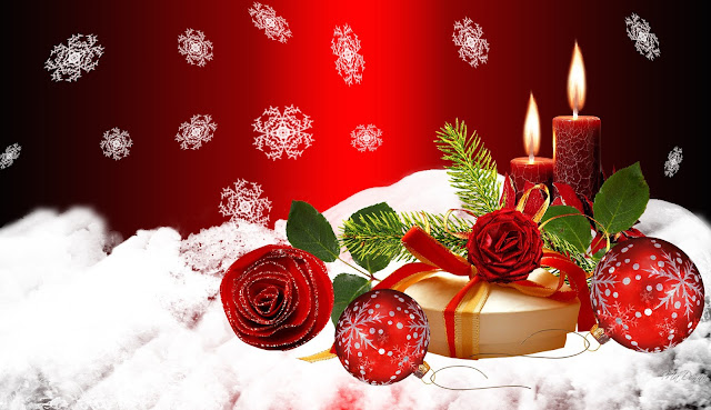 Merry Christmas candle Desktop Wallpapers