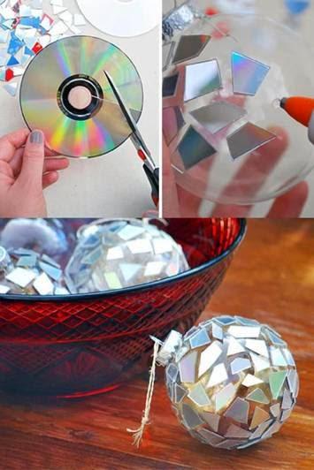 Como fazer bolas de natal diferentes passo a passo