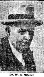 Photo clipping from Nevada State Journal, 1937, showing Dr. W. R. Mitchell, a middle-aged man wearing a suit and a fedora