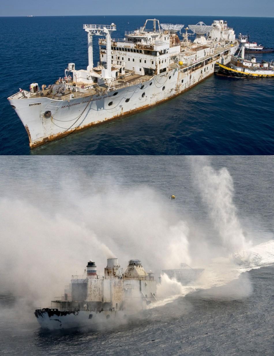 Kapal Vandenberg ditenggelamkan pada tahun 2009
