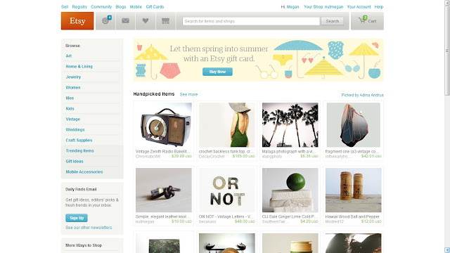 My item was featured on Etsy's front page