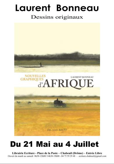 Exposition Nouvelles graphiques d'Afrique à la librairie Ecriture - Plus d'infos