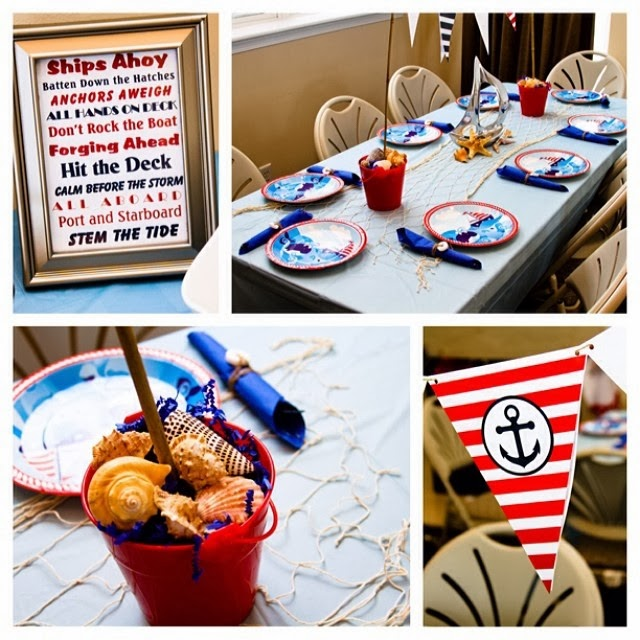 little sailor baby shower by throwing a nautical themed party complete