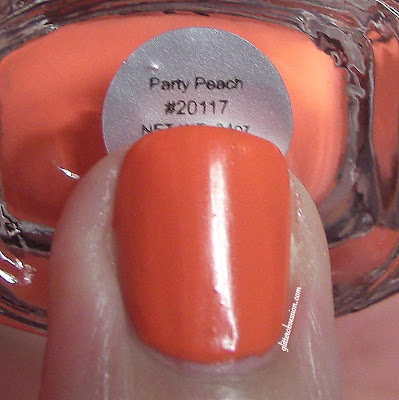 e.l.f. Party Peach, elf party peach swatch, elf party peach nail swatch