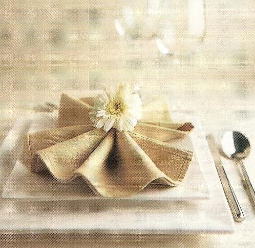 Tipos de dobleces de servilletas