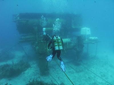 The NOAA Auqarius Reef Base, Florida Keys National Marine Sanctuary, Florida, USA