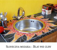 Słoneczna mozaika - kuchenny blat pod zlew