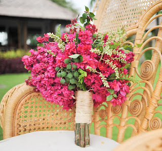 hot pink bougainvilleas bouquet