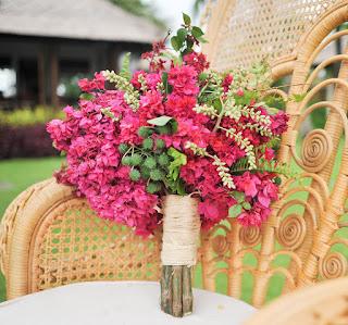 hot pink bougainvilleas bouquet