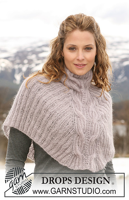 Free Knitting Pattern For Short Poncho : knitnscribble.com: Cape patterns for year round wear