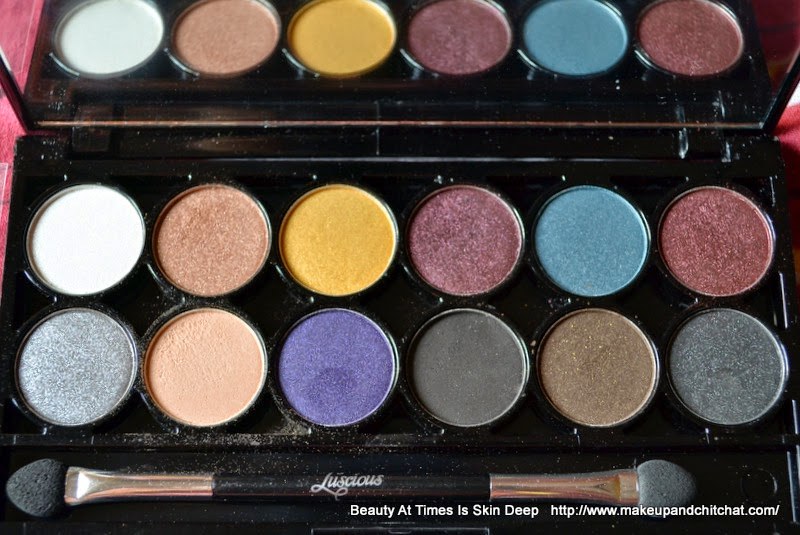 Photo and review of Luscious I love Eyeshadow Glam Night Palette