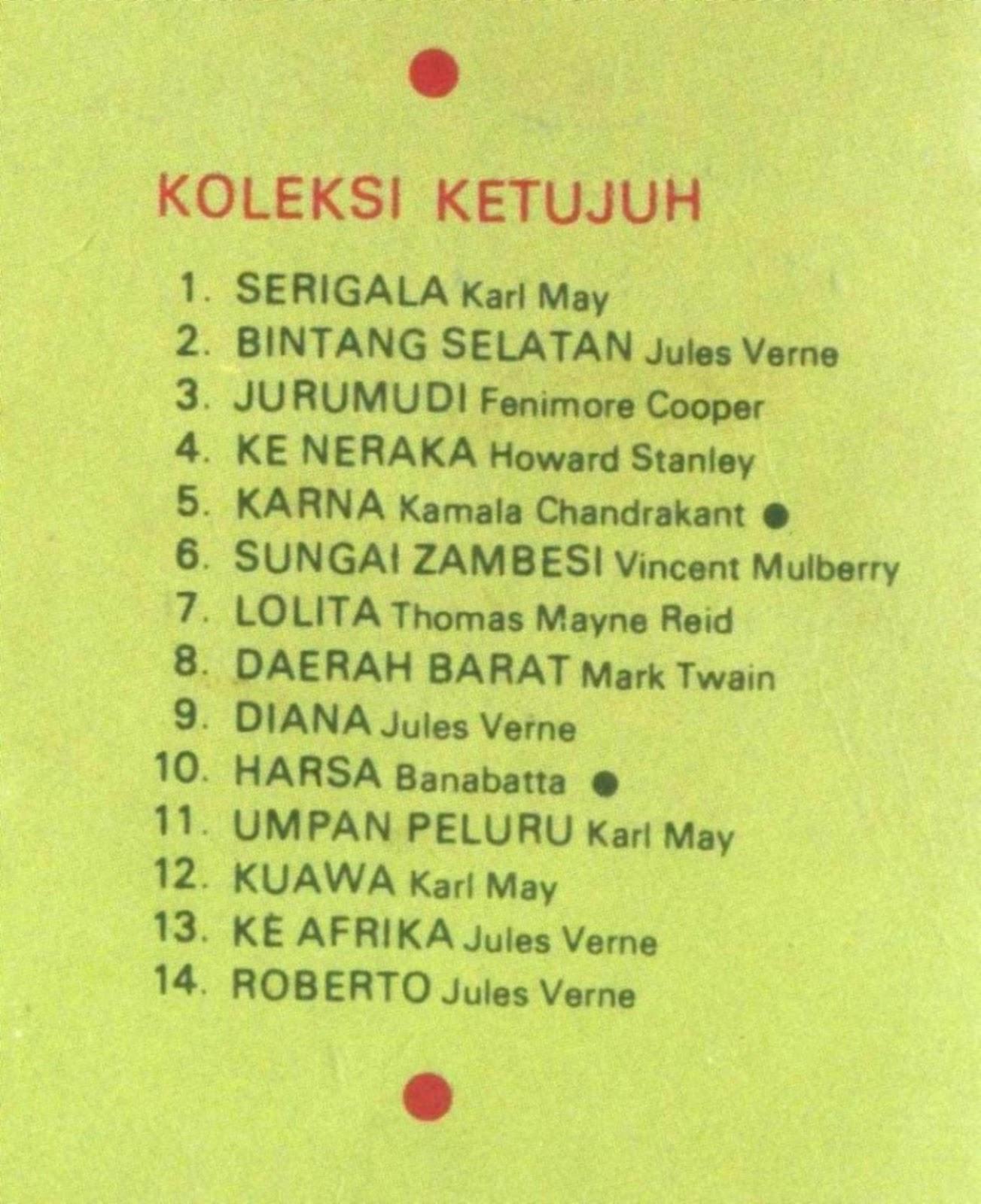 Seluruh 14 Album Cerita Ternama pada Koleksi KeTujuh di daftar ini,