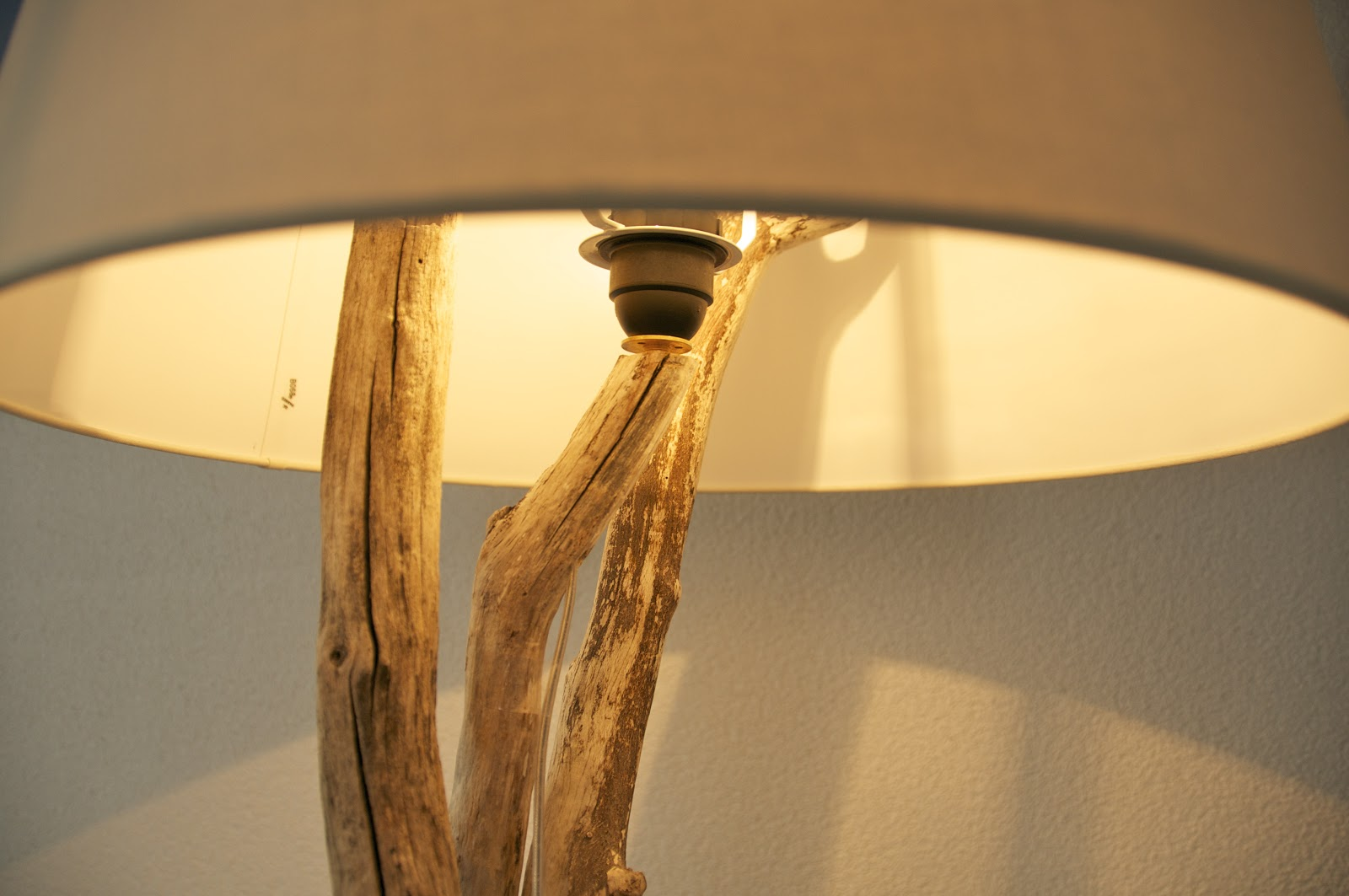 linen floor o lamp shade othentique round natural handmade rousilique thentique driftwood beige large products