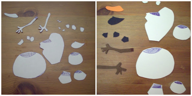 Olaf paper pieces #FrozenFun #shop