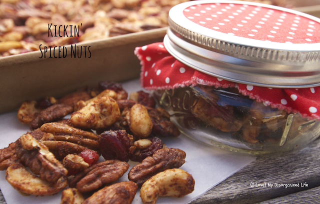 Kickin' Spiced Nuts/{I Love} My Disorganized Life #spiced #nuts