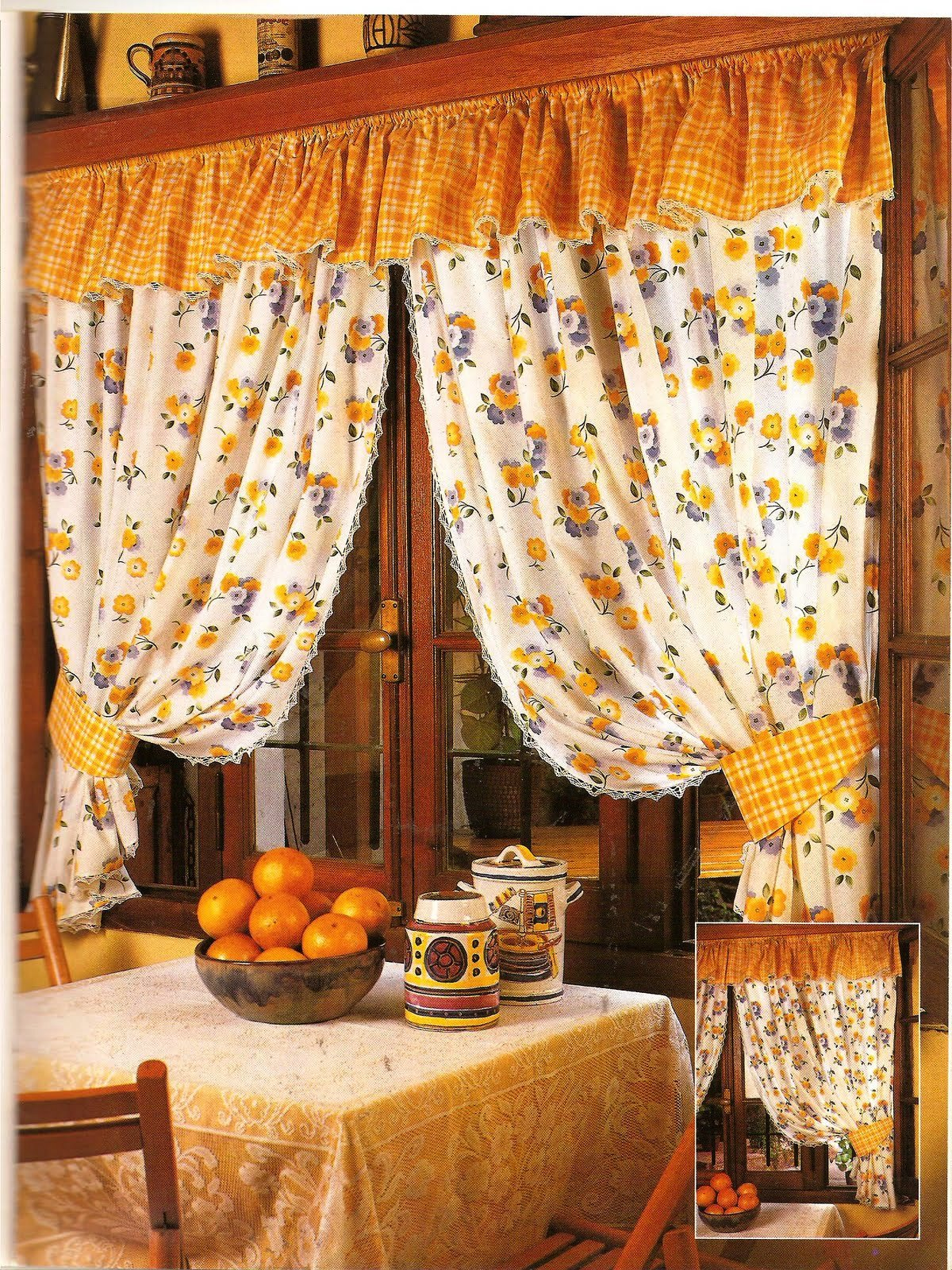 Taller de artes creativas cortinas super for Cortinas cocina