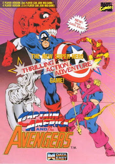 Capitán américa and The Avengers acarde game portable flyer