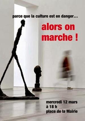 Marche pour la culture à Apt