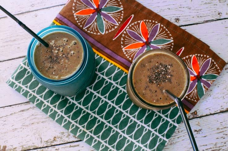 Picture of chocolate chia smoothie