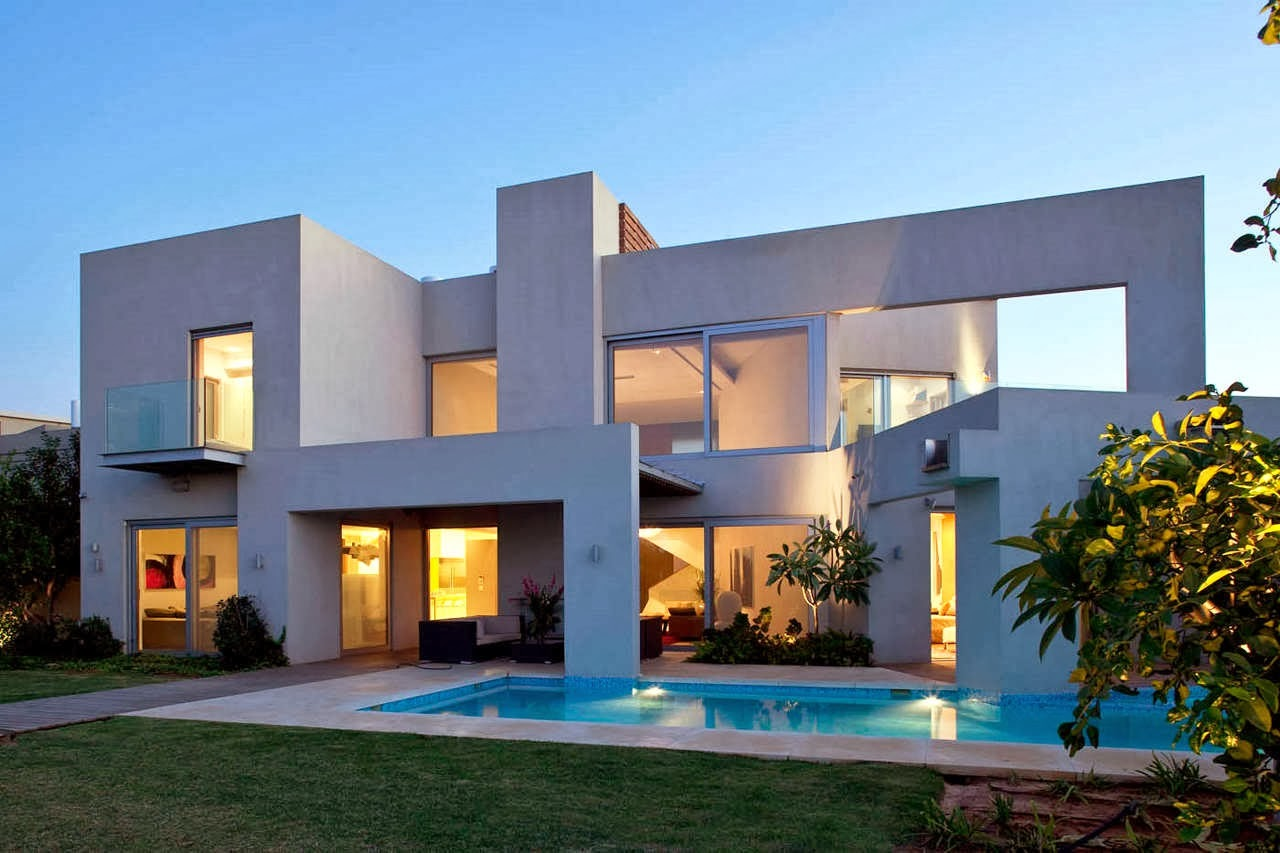 Decoracion actual de moda fachadas de casas modernas - Casas modernas con piscina ...