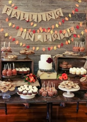 fall wedding dessert table
