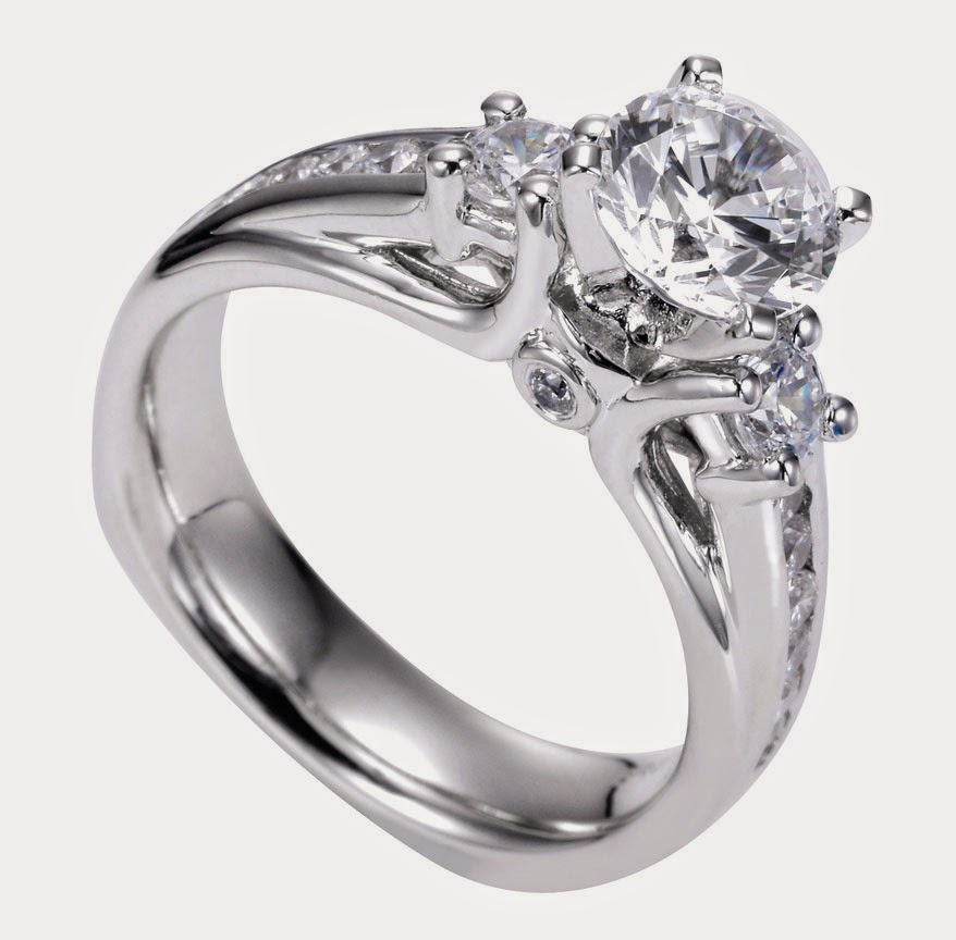 Design White Diamond Wedding Rings Settings with Baguettes pictures hd