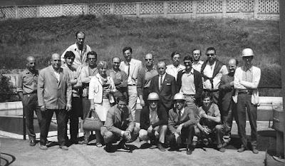 Algunos de los ajedrecistas participantes en el XXXV Campeonato Individual de España de Ajedrez, Llaranes-Avilés 1970